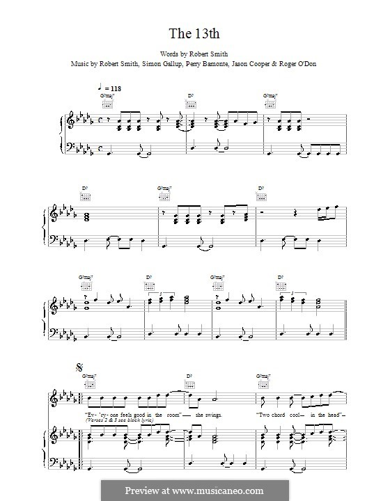 The 13th (The Cure): Для голоса и фортепиано (или гитары) by Robert Gary Smith
