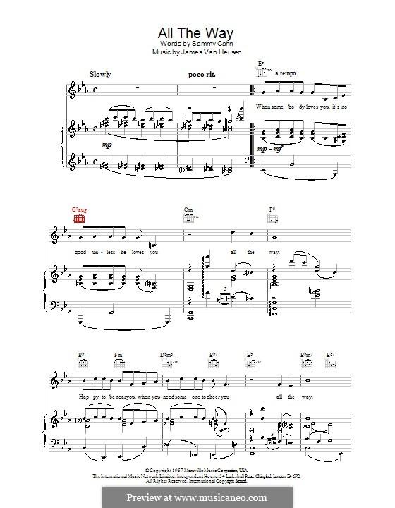 All the Way (Frank Sinatra): Для фортепиано by Jimmy Van Heusen
