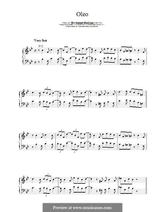 Oleo: Для фортепиано by Sonny Rollins