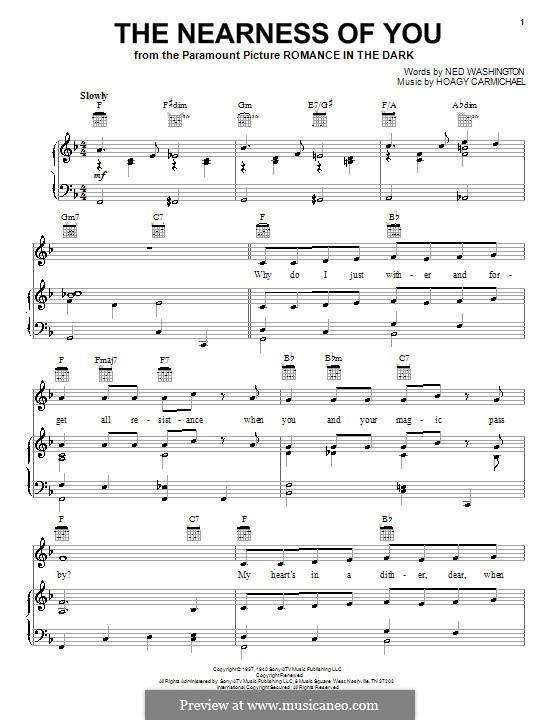 The Nearness of You: Для голоса и фортепиано или гитары (George Shearing) by Hoagy Carmichael