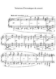 Концертные хроматические вариации: Для фортепиано by Жорж Бизе