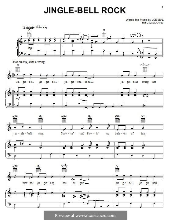 Jingle Bell Rock: Для голоса и фортепиано или гитары (Bobby Helms) by Jim Boothe, Joe Beal