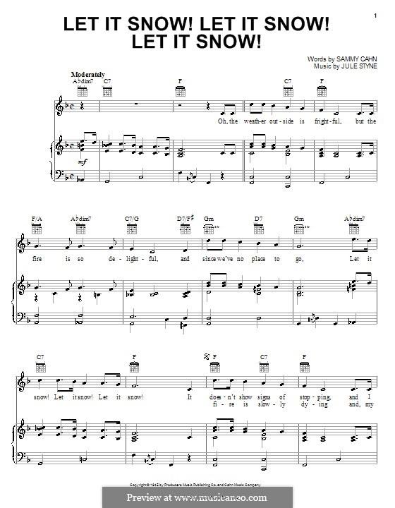 Let It Snow! Let It Snow! Let It Snow!: Для голоса и фортепиано (или гитары) by Jule Styne