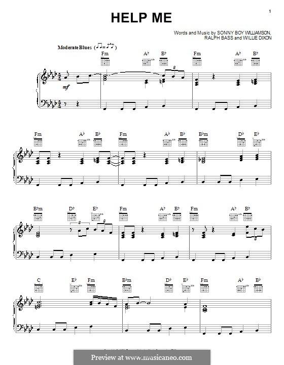 Help Me (Sonny Boy Williamson): Для голоса и фортепиано (или гитары) by Ralph Bass, Willie Dixon