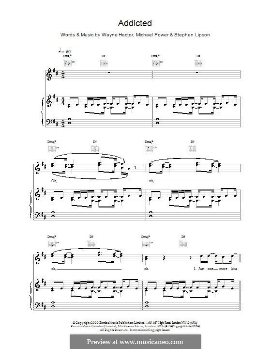 Addicted (Ronan Keating): Для голоса и фортепиано (или гитары) by Stephen Lipson, Wayne Anthony Hector