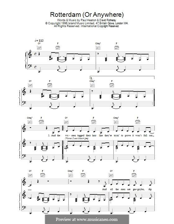 Rotterdam (The Beautiful South): Для голоса и фортепиано (или гитары) by David Rotheray, Paul Heaton
