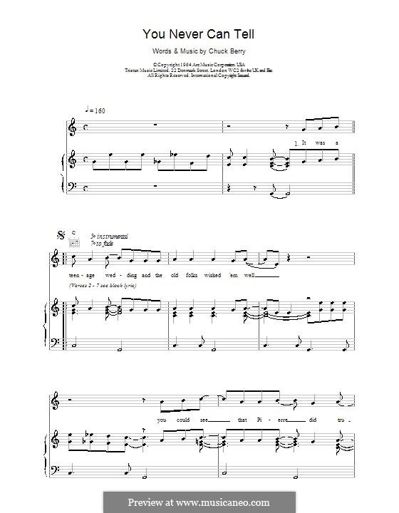 You Never Can Tell (from Pulp Fiction): Для голоса и фортепиано (или гитары) by Chuck Berry