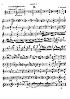 Serenata alla spagnola: Партии by Александр Бородин
