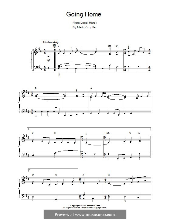 Going Home (theme from Local Hero): Для фортепиано (легкий уровень) by Mark Knopfler