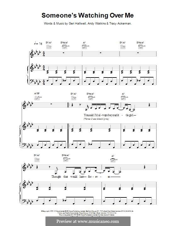 Someone's Watching Over Me: Для голоса и фортепиано (или гитары) by Geri Halliwell