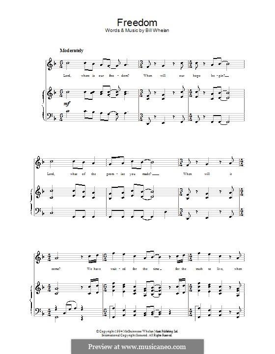 Freedom (from Riverdance): Для голоса и фортепиано by Bill Whelan