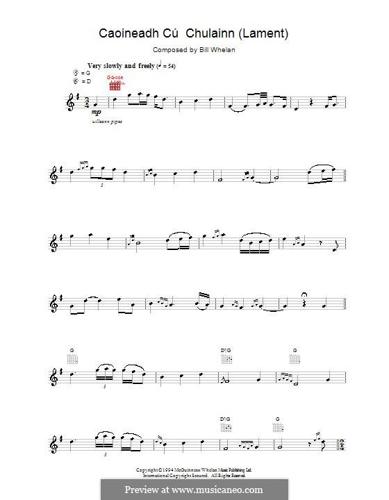Caoineadh Chú Chulainn (from Riverdance): Мелодия by Bill Whelan