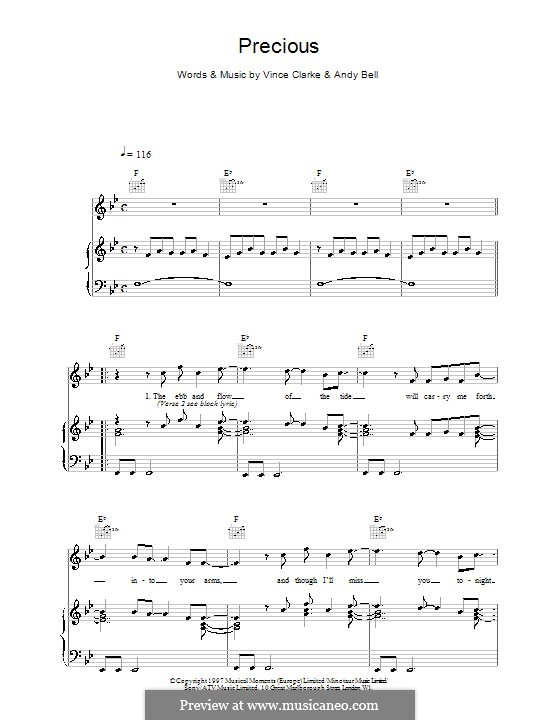 Precious (Erasure): Для голоса и фортепиано (или гитары) by Andy Bell, Vince Clarke