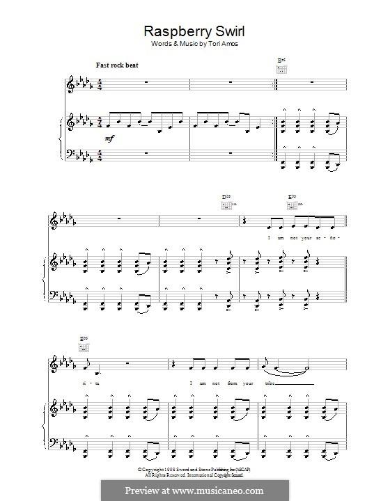 Raspberry Swirl: Для голоса и фортепиано (или гитары) by Tori Amos