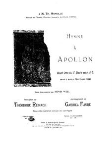 Гимн Аполлону: Гимн Аполлону by Габриэль Форе
