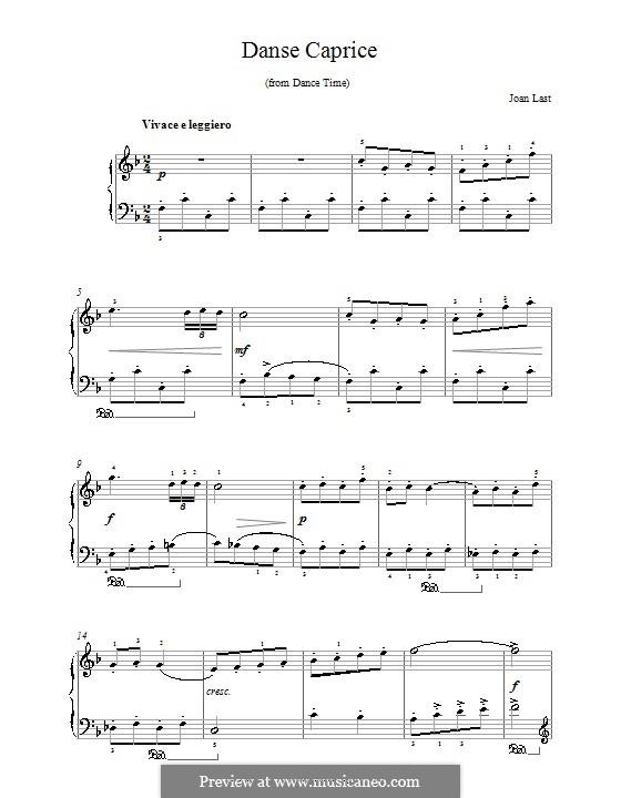 Danse Caprice: Для фортепиано by Joan Last