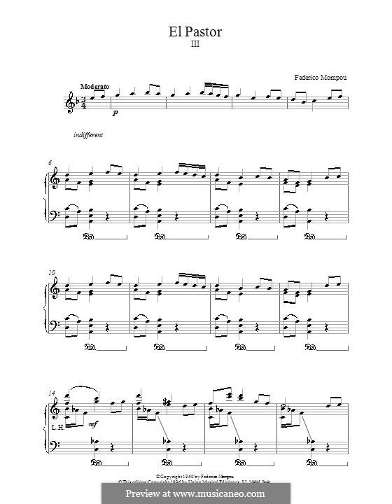 El Pastor: Для фортепиано by Федерико Момпоу