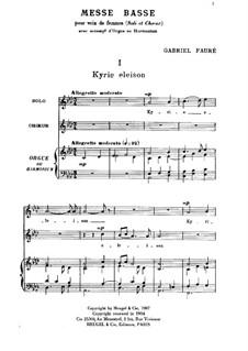 Messe basse: Messe basse by Габриэль Форе