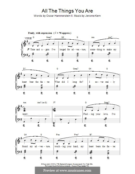 All the Things You are: Для голоса и фортепиано (или гитары) by Джером Керн