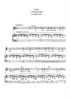 Le jardin clos, Op.106: Le jardin clos by Габриэль Форе