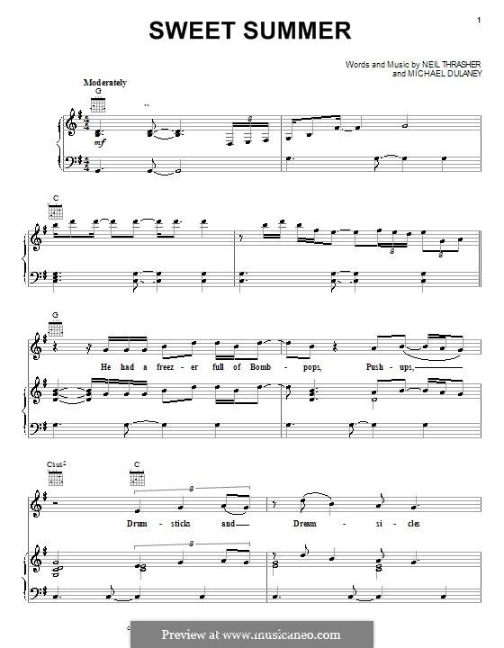 Sweet Summer: Для голоса и фортепиано (или гитары) by Michael Dulaney, Neil Thrasher