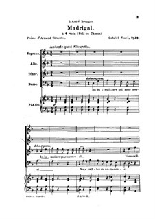 Мадригал, Op.35: Мадригал by Габриэль Форе