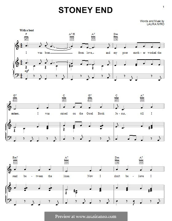 Stoney End (Barbra Streisand): Для голоса и фортепиано (или гитары) by Laura Nyro