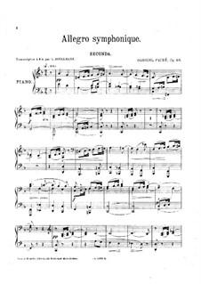 Симфоническое аллегро, Op.68: Для фортепиано в 4 руки by Габриэль Форе