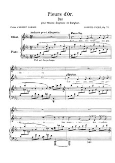 Pleurs d'Or, Op.72: Pleurs d'Or by Габриэль Форе