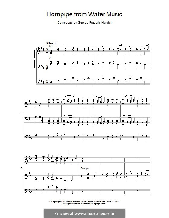 Сюита No.2 ре мажор, HWV 349: Alla Hornpipe, for organ by Георг Фридрих Гендель