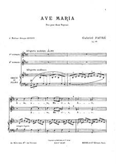Аве Мария, Op.93: Для голоса и фортепиано (или органа) by Габриэль Форе
