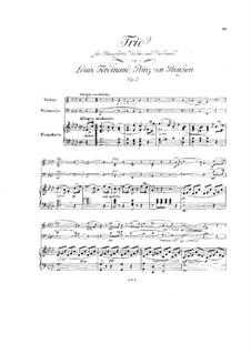 Фортепианное трио ля-бемоль мажор, Op.2: Фортепианное трио ля-бемоль мажор by Людвиг Фердинанд Принц Пруссии