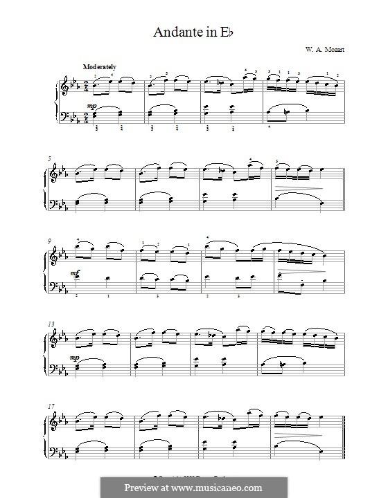 Анданте ми-бемоль мажор: Анданте ми-бемоль мажор by Вольфганг Амадей Моцарт