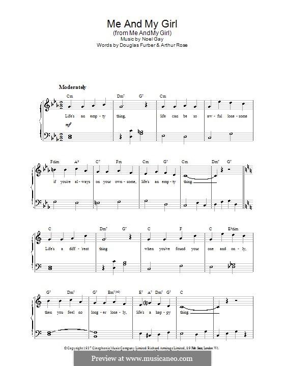 Me and My Girl: Для фортепиано (легкий уровень) by Noel Gay