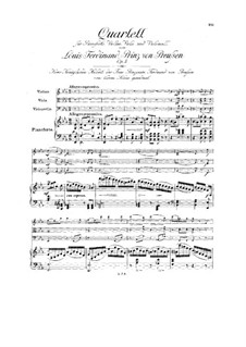 Фортепианный квартет ми-бемоль мажор, Op.5: Партитура by Людвиг Фердинанд Принц Пруссии