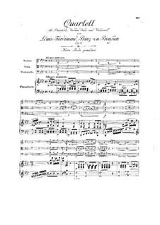 Фортепианный квартет фа минор, Op.6: Фортепианный квартет фа минор by Людвиг Фердинанд Принц Пруссии