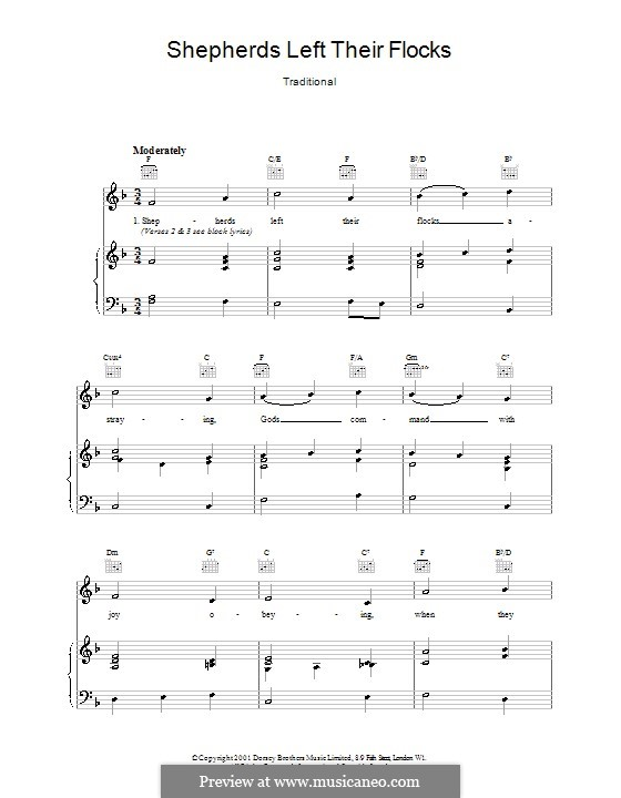 Shepherds Left Their Flocks: Для голоса и фортепиано (или гитары) by folklore