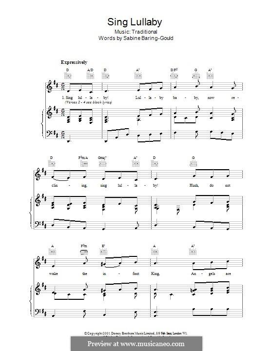 Sing Lullaby: Для голоса и фортепиано (или гитары) by folklore