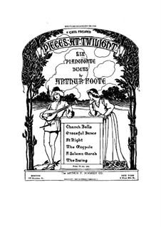 Шесть пьес для фортепиано в четыре руки: Первая и вторая партии by Артур Фут