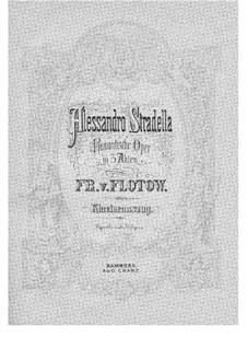 Алессандро Страделла: Аранжировка для голосов и фортепиано by Фридрих фон Флотов