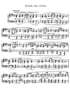Прелюдия, ария и финал: Для фортепиано by Сезар Франк