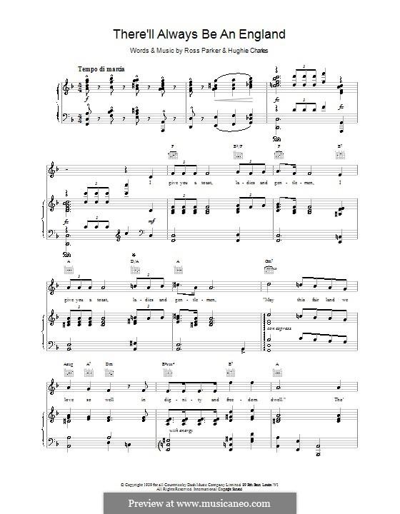 There'll Always Be an England: Для голоса и фортепиано (или гитары) by Ross Parker