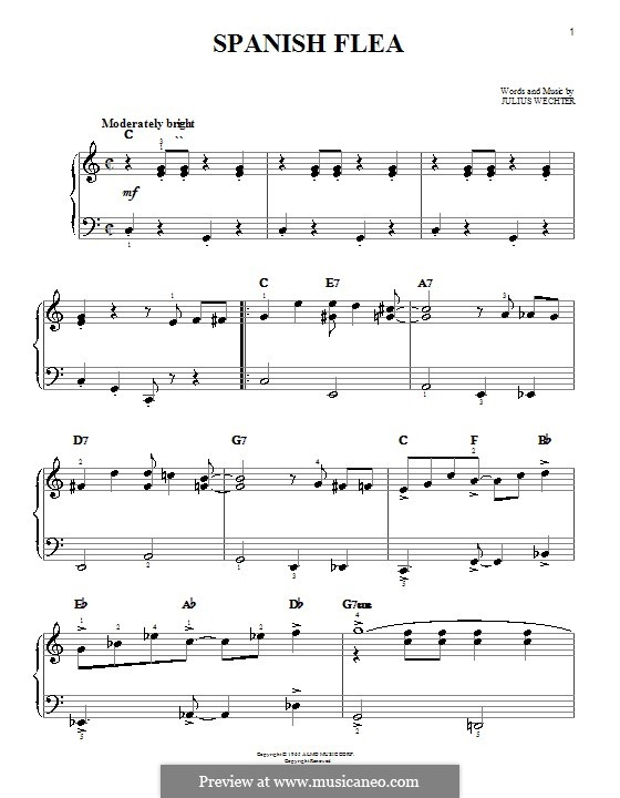 Spanish Flea (Herb Alpert & The Tijuana Brass Band): Для начинающего пианиста by Julius Wechter