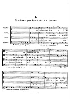 Graduale pro Dominica I. Adventus. Non confuntentur Domine, K.137: Graduale pro Dominica I. Adventus. Non confuntentur Domine by Иоганн Фукс