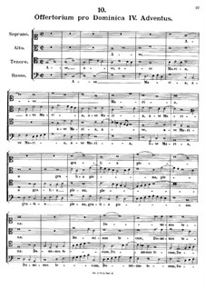 Offertorium pro Dominica IV. Adventus. Ave Maria, K.151: Offertorium pro Dominica IV. Adventus. Ave Maria by Иоганн Фукс