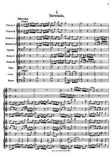 Серенада до мажор, K.352: Серенада до мажор by Иоганн Фукс