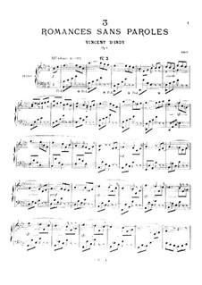 Романс без слов, Op.1 No.3: Романс без слов by Венсан д' Энди