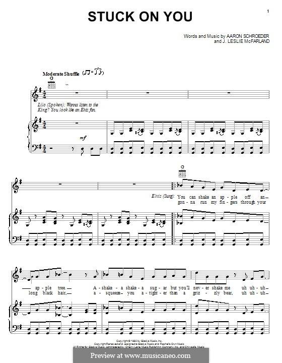 Stuck on You (Elvis Presley): Для голоса и фортепиано (или гитары) by Aaron Schroeder, J. Leslie McFarland