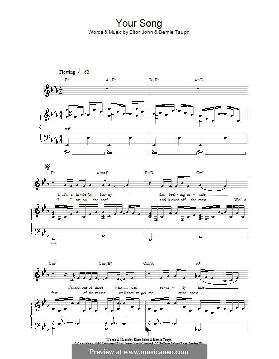 Your Song: Для голоса и фортепиано by Elton John