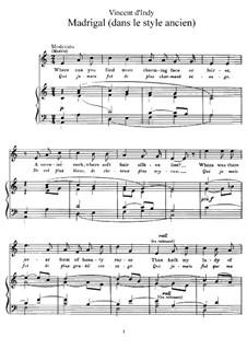 Мадригал, Op.4: Мадригал by Венсан д' Энди